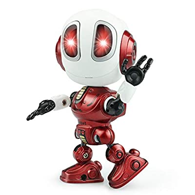 Touber Popular Toys for 3 4 5 6 7 8 Year Old Girls Boys, Robots Toy for Kids Robot Toys for Boys Girls Age 4-8 Birthday Gifts for 2-8 Year Old Girls Boys Cool Xmas Stocking Stuffers for Kids - Red