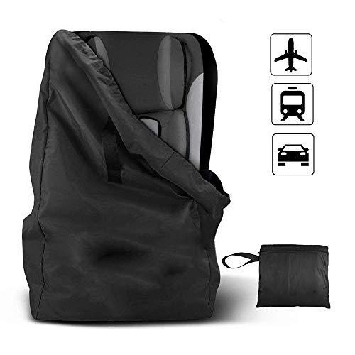 integrity.1 car Seat Travel Bag with Backpack Shoulder Straps for Strollers, Car Seats, Pushchairs, Boosters, Infant Carriers and Wheelchairs, Water Resistant -Great for Airplane and Storage (Black)