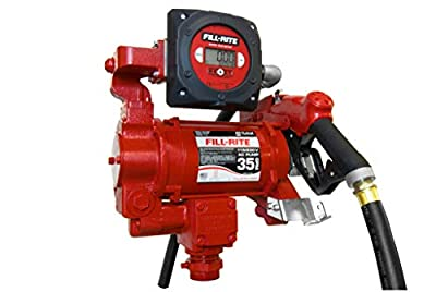 Fill-Rite FR319VB 115/230V 35 GPM Fuel Transfer Pump with Discharge Hose, Automatic Nozzle, & Digital Meter