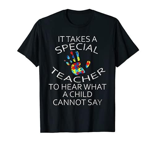 Maestros de concienciación sobre el autismo SPED de Camiseta