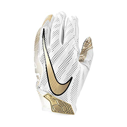 Nike Vapor Knit 3.0 Design 2019 Receiver Handschuhe - weiß/Gold Gr. M
