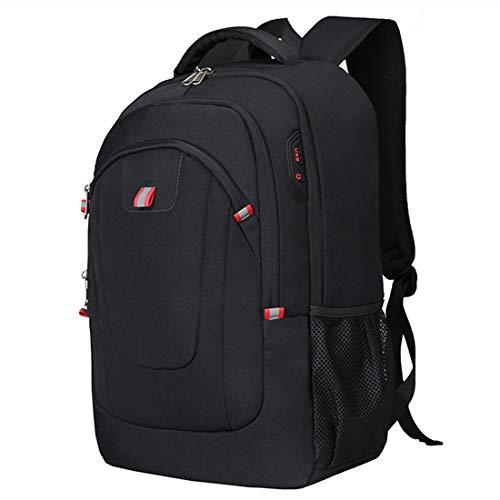 Mochila antirrobo, mochila de viaje ligera, compatible con portátiles de 17.3 pulgadas con puerto de carga USB para auriculares, resistente al agua, para el trabajo, estudiantes universitarios