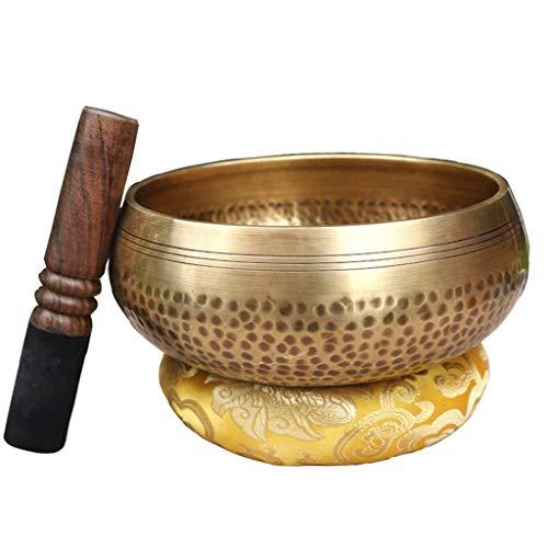 KQHSM Bol de Tratamiento de Yoga, Hecho a Mano, de Cobre, con diseño de Buda