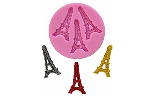 Silikonform Eiffelturm Paris Fondant Silikonformen Seifenform Backzubehör Backform Backformen Torten Kuchendekoration Tortendekor Backen Randdeko Silicon Mold Kuchen Verzierung Verzieren Gießform Neu