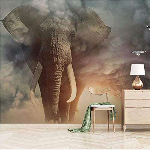 3D Animal Muurschildering Op maat Olifant Fotobehang Woonkamer Slaapbank TV Kinderkamer Thuis Decoratie_350X250CM