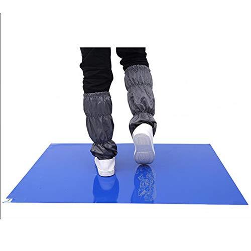 Herbests - Juego de 30 esterillas adhesivas, 45 x 60 cm, esteras de descontaminación, alfombra antibacteriana extraíble, almohadillas adhesivas de PVC, para limpieza sin polvo