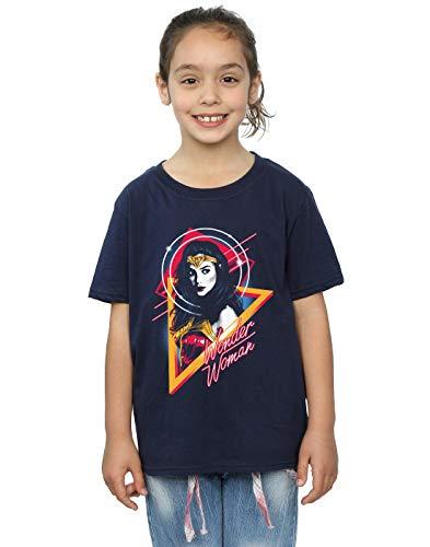 DC Comics Niñas Wonder Woman 84 Diana 80s Triangle Camiseta Azul Marino 9-11 Years