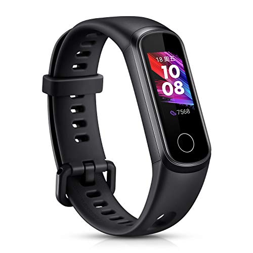 HONOR Band 5 Smartwatch Pulsera de Actividad con Pulsómetro Mujer Hombre, Monitor de Actividad Deportiva, Ritmo Cardíaco, Impermeable IP68, Reloj Fitness, con Podómetro ⭐