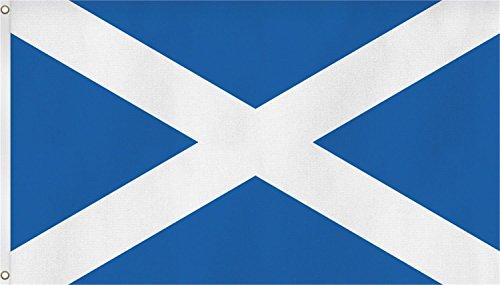 normani Fahne mit Messingösen 90 x 150, 150 x 250 oder 300 x 500 cm wählbar Farbe Schottland Größe 90 x 150