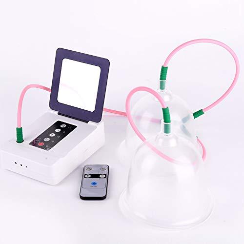 WMG&BB Brustmassagegerät, elektrisches kabelloses Brustmassagegerät mit Fernbedienung, Brustvergrößerer mit Zwei Körbchen, herabhängende Unterwäsche, Artefakt zur Brustvergrößerung,B