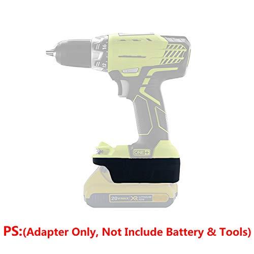 Battery Adapter for Ryobi 18V Cordless Tools Uses Dewalt 18V/20V(MAX) Slider Li-ion Batteries, with 5V 2.1A(Max) USB Charge Port