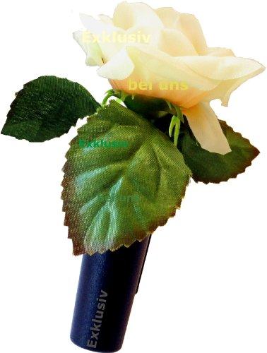 HR-Autocomfort Auto Vase Gelbe Rose Blumenvase mit Halter Vasenset