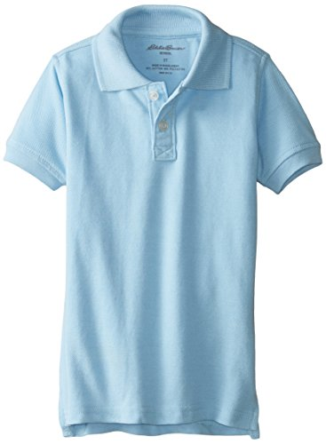Eddie Bauer Boys' Big Polo Shirt (More Styles Available), Pique Navy, 10/12