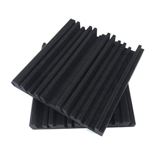 Xigeapg 12 StüCk Absorptions Schaum Platten - Breitband Schallabsorber - Schall Schutz Schaum mit Periodischer Rillenstruktur für Acoustic Studio