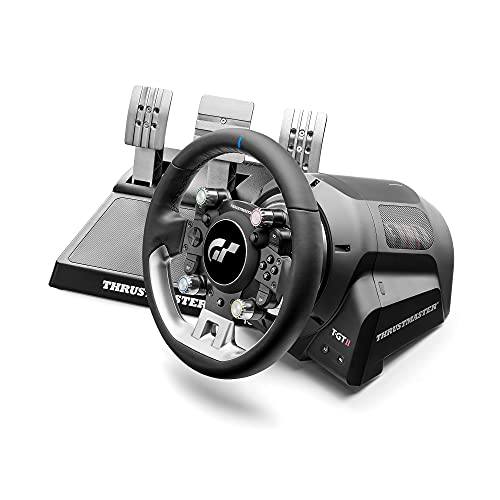 Thrustmaster T-GT II: El volante de carreras con licencia oficial para PlayStation 5 y Gran Turismo, con Juego de 3 Pedales (también compatible PS4 y PC)