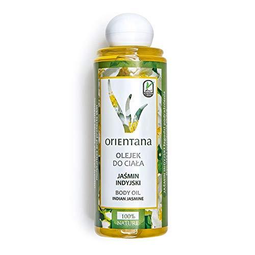 Orientana Körperöl mit INDISCHEM JASMIN - 100% Veganes und Natürliches, eine ayurvedische Mischung von hochwertigen Ölen, mit schönem Duft, 210 ml