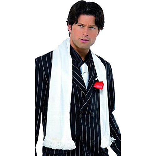 Smiffys Adult's Unisex Scarf with Tassels, White, One Size, 34936