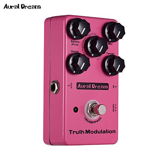 JJmooer True Modulation Pedal de efecto de guitarra 8 modos