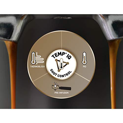 Cafetière/Machine à Expresso Breville Barista Max, Semi-Automatique avec Moulin Broyeur à Grain...