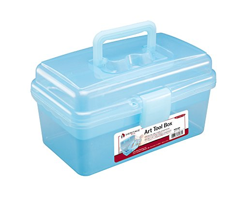 Alvin, HPB1006, Small Art Tool Box, Supplies Organizer - 9.5' x 5.25' x 5'