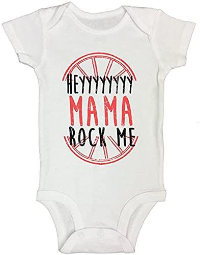 ?Hey Mama Rock Me Printed Onesies Baby Girl Boy Meme Outfit Bodysuit