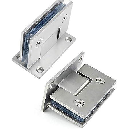 bisagras de acero inoxidable para puerta Bisagra de montaje en pared para puerta soporte de 8-10 mm Bisagra de montaje en pared para puerta de ducha sin marco Bisagra de montaje en pared para puerta