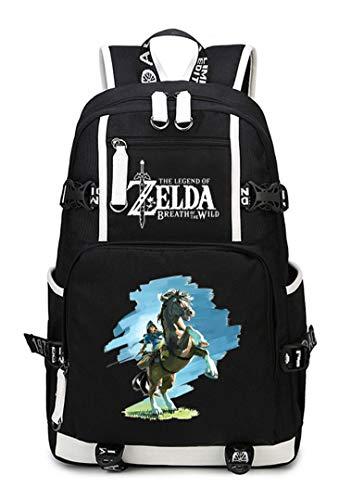 WANHONGYUE The Legend of Zelda Juego Mochila Escolar Estudiante Bolso de Escuela Backpack Mochila para Portátil Negro-9