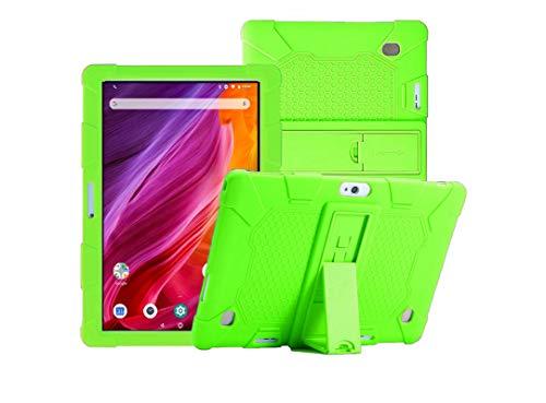 YGoal Funda para Winnovo Tablet 10 Pulgadas, Suaves Cubierta Protectora Silicona Case Cover para Winnovo T10,  YESTEL X7 10.1 Pulgadas y VANKYO MatrixPad S30 10 Pulgadas,  Verde
