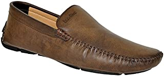Lee Fox Pure Leather Brown Casual Loafer