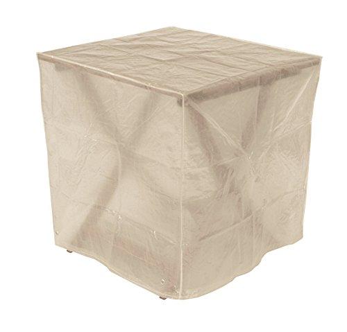 DEGAMO Schutzhülle Abdeckhaube 70x70cm quadratisch für Gartentische, PE transparent