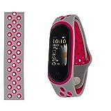 Smart Watch Sovo M14 con Brazalete de Silicona Gris y Rosa