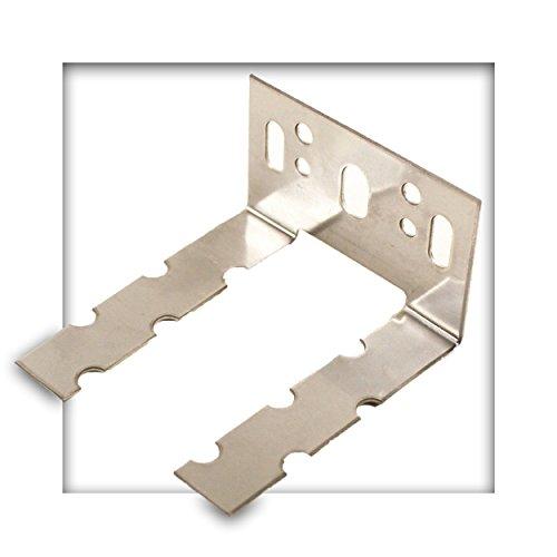Wandanschlussanker starr Edelstahl 60x1,25 mm Wandverbinder Maueranker 10 Stück