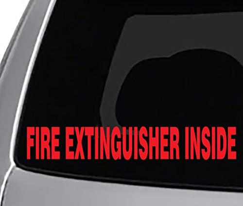 Seek Racing FIRE Extinguisher Inside Decal CAR Truck Window Bumper Sticker Sports Fleet Vehicle SEMI Indoors Garage ECT