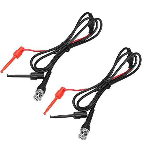 Cable coaxial Sondas de osciloscopio Cable de prueba BNC a gancho de émbolo de prueba dual para trabajo de prueba con dos mini sondas terminadas para mecánica
