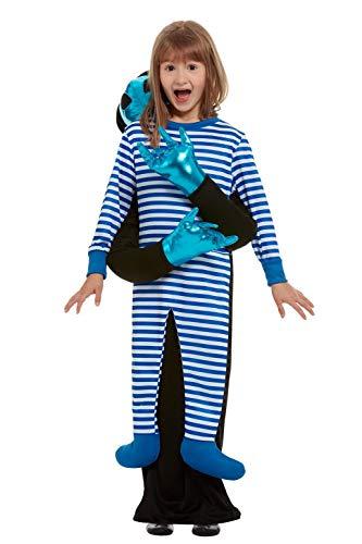 Smiffys 51083SM - Disfraz de secuestro de alienígenas, unisex, para niños, color azul, de S a M, edad de 4 a 7 años
