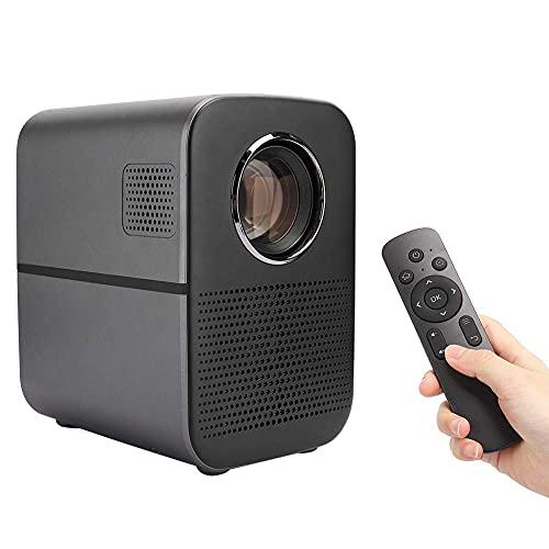 OHHG Mini proyector doméstico, LED Smart HD, pequeño Teatro Pared portátil, sin Pantalla, proyector TV, relación proyección 1.36: 1, supergraves, disipación Calor circulación Interna