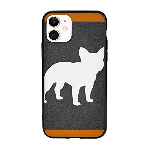 French Bulldog Silhouette Frenchie Dog Compatible with iPhone 11 Pro Max-6.5 Cases,Non-Slip TPU Protective Case Cell Phone Cover for Women Men Girls Gift
