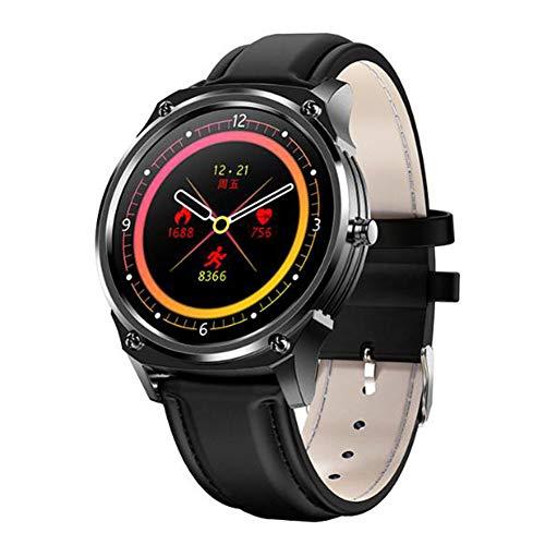 Funiee - Reloj inteligente con monitor de presión arterial para hombres para Android e Ios Smartwatch para relojes de desgaste con monitor de frecuencia cardíaca IP67 resistente al agua, 3