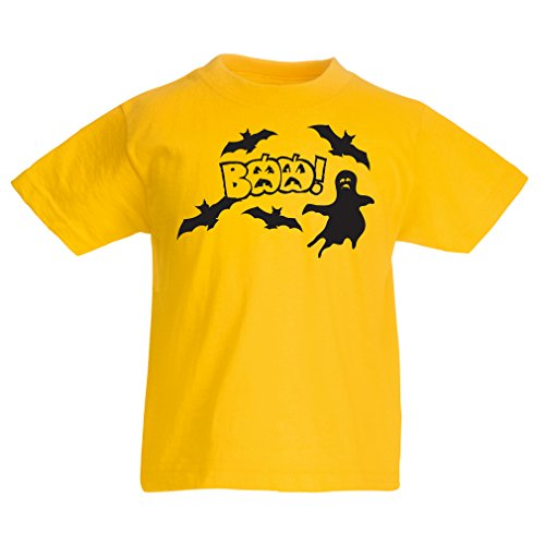 Kinder T-Shirt BAAA! - Funny Halloween Costume Ideas, cool Party Outfits (14-15 Years Gelb Mehrfarben)