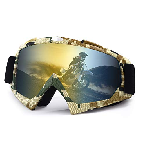 Motorcycle goggles,Atv Goggles Dirt Bike Ski Goggles Windproof Scratch Resistant...