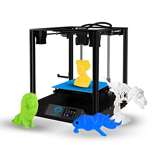 Aibecy Pro CoreXY 3D Imprimante DIY Kit Impression sans bruit Automatique Niveauregulation continue de la capture de filaments avec écran tactile, lit chauffant 4G, carte TF PLA