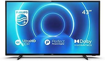 Philips 43PUS7505/12 43-calowy telewizor (4K UHD TV, P5 doskonały silnik obrazu, obsługa HDR 10+, Smart TV, Dolby...