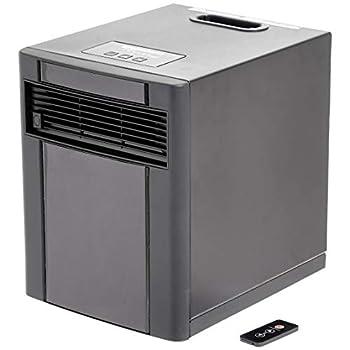 Amazon Basics Portable Eco-Smart Space Heater - Black