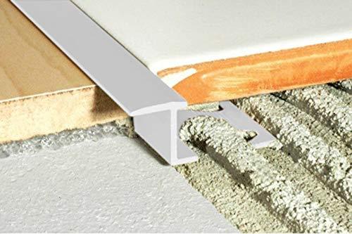 2 meter | S-vorm | Overgangsprofiel | Aluminium geanodiseerd | Effector | 7x9mm | A57 A1. zilver