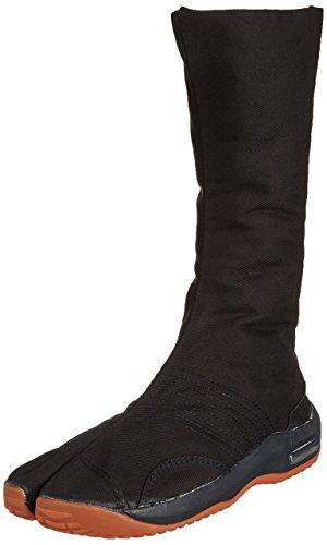 Marugo Tabi Boots Ninja Schuhe Jikatabi (Outdoor tabi) Air JOG12, Schwarz (schwarz), 36/36.5 EU