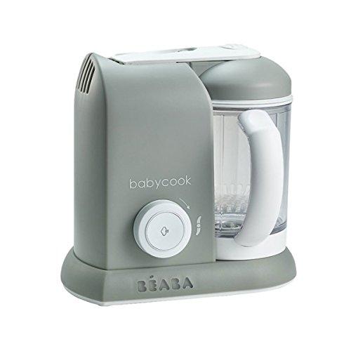 Béaba – Babycook Solo – 4-in-1 Babynahrungszubereiter – Mixen, Aufwärmen und Dampfgaren– Schnelles Dampfgaren – Hausmannskost für Babys und Kleinkinder – Abwechslungsreiche Ernährung für Ihr Baby–grau