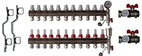 Dismy Port Manifold Colector de 11 puertos en latón cromado