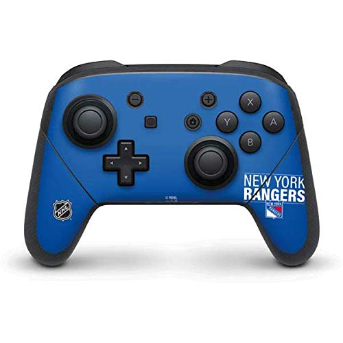 Skinit Decal Gaming Skin Compatible with Nintendo Switch Pro Controller - Officially Licensed NHL New York Rangers Lineup Design