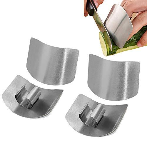 Edelstahl Fingerschutz , Fingerschutz Handschutz Vermeiden Sie Verletzungen , Sichere Messer Schutz Chop Safe Slice Küchenwerkzeug zum Würfeln und Schneiden in Küchen (4PCS)