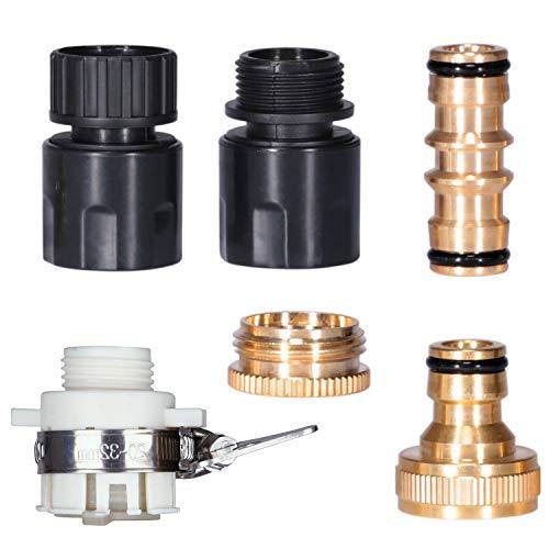 [Juego de 6] Conectores de Manguera Conexiones para Tubos Adaptador Universal Accesorios Adapter Conectores